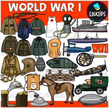 World War 1 Clip Art Bundle {Educlips Clipart}