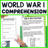 World War 1 Reading Comprehension Passages and Questions