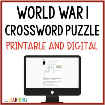World War 1 Crossword - Freebie