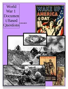 World War 1 Document Based Questions