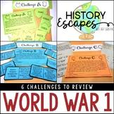 World War 1 Escape Activity, WW1 History Escape, WWI Social Studies Escape
