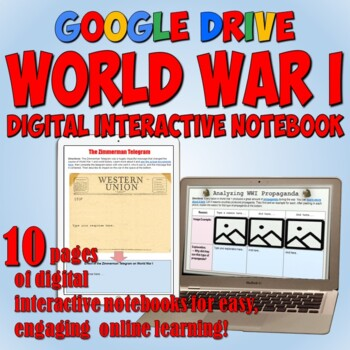 World War 1 Google Drive Interactive Notebook