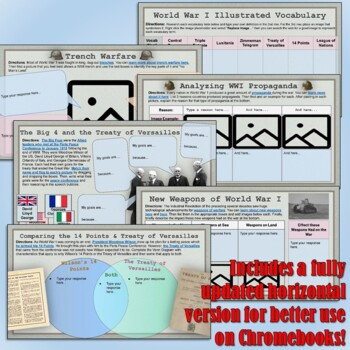 World War 1 Google Drive Interactive Notebook for Distance Learning