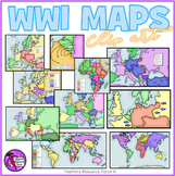 World War 1 maps clipart