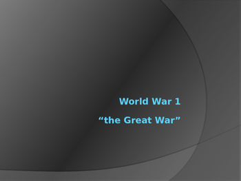 World War 1 History