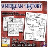 World War 1 and The Great Depression Illustrated Timelines - US History