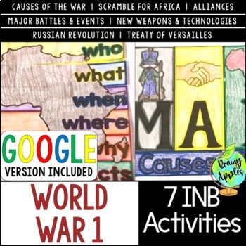 World War 1 Interactive Notebook Activities, World War I, WW1, WWI