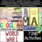 World War 1 Interactive Notebook Activities, World War I,