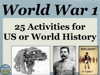 World War 1 Activities and Primary Source Analysis Bundle