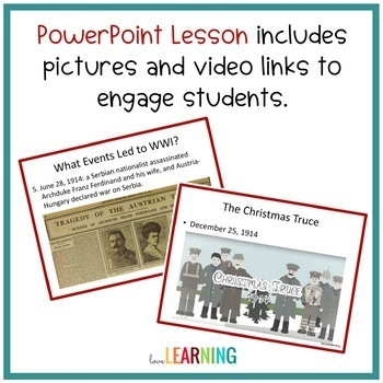 Distance Learning: World War 1 Unit with Interactive Notes