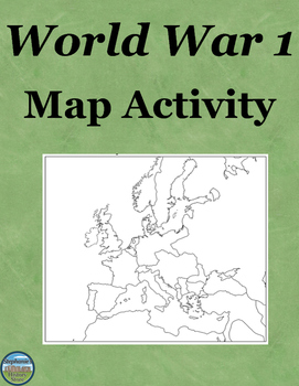 World War 1 Map Activity