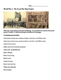 World War 1 Map Project- Map, web quest