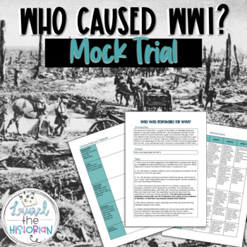 World War 1  Mock Trial Project [Editable]