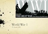 World War 1 PPT Unit Plan WWI WITH QUIZ