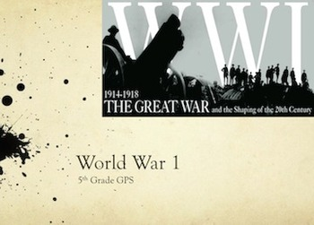 World War 1 PPT Unit Plan WWI WITH QUIZ
