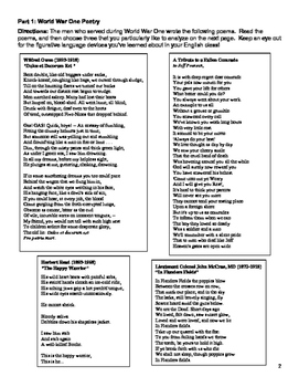 World War 1 Poetry Project