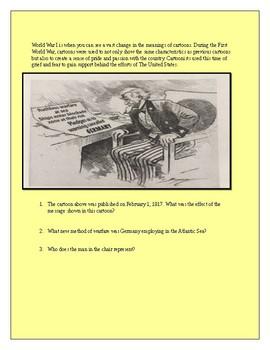 World War 1 Political Cartoon Worksheet