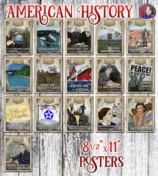 World War 1 and The Great Depression Poster Set - US History