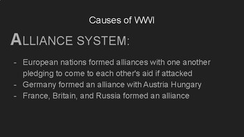 World War 1 Power Point