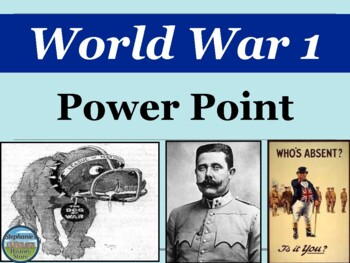 World War 1 Power Point for World History