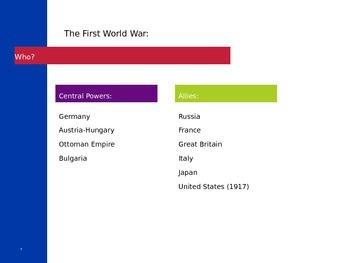 World War 1 PowerPoint
