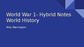World War 1 PowerPoint Notes