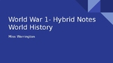 World War 1 PowerPoint Notes