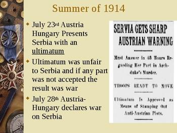 World War 1 PowerPoint Presentation