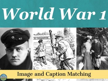 World War 1 Primary Source Image Activity