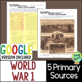 World War 1 Primary Sources; WW1; Distance Learning; Digit