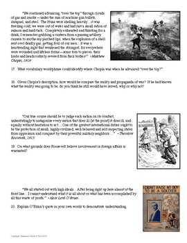 World War 1 Quote and Image Analysis