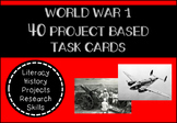World War 1 Research Project Based Task Cards