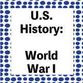 World War 1 Review Questions