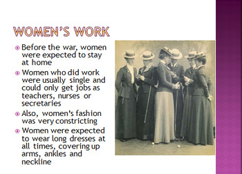 World War 1- Role of Women