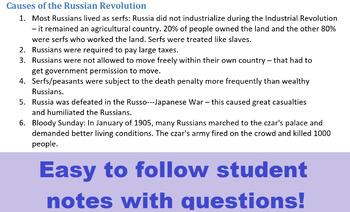 World War 1- Russian Revolution FULL LESSON PLAN