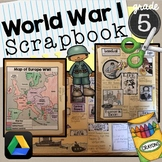 World War 1 Scrapbook SS5H2 interactive notebook