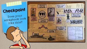 World War 1 Scrapbook SS5H2 interactive notebook