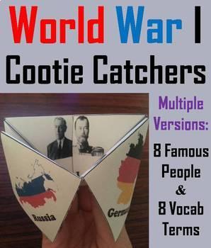 World War 1 Task Cards and Activities Bundle