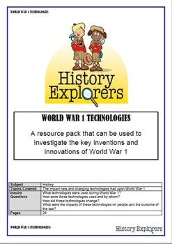 World War 1 Technologies (Resource Pack)
