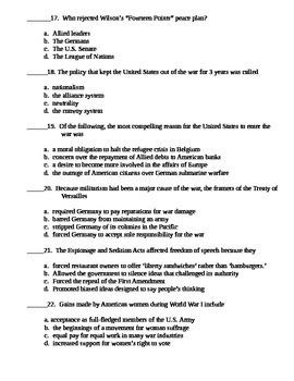 World War 1 Test