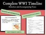 World War 1: Timeline Slideshow and Notes