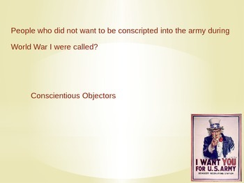 World War 1 Trivia-An Editable Powerpoint Review