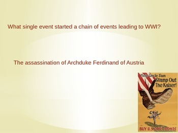 World War 1,WW1, WWI -An Editable Powerpoint Review