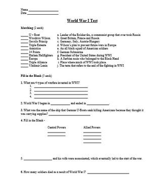 World War 1 Unit