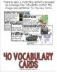 World War 1 Vocabulary Cards, World War I, WW1, WWI Word Wall