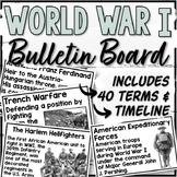 World War 1 Word Wall, Timeline Display & Timeline Sorting Activity