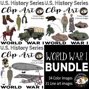 World War 1 World War I Clip Art Bundle