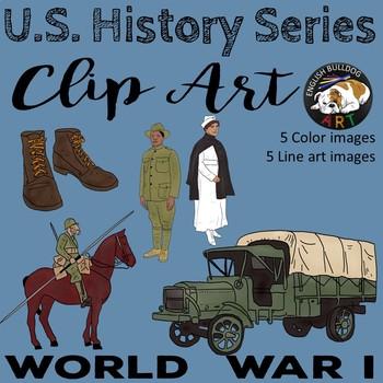 World War 1 World War I Clip Art Set 1