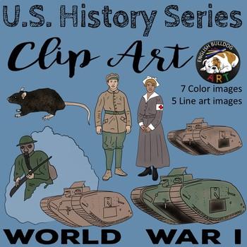 World War 1 World War I Clip Art Set 2