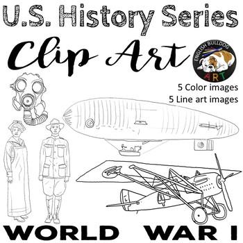 World War 1 World War I Clip Art Set 3